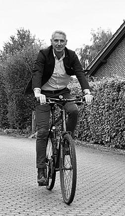 Thorsten Schmidtke auf dem Fahrrad